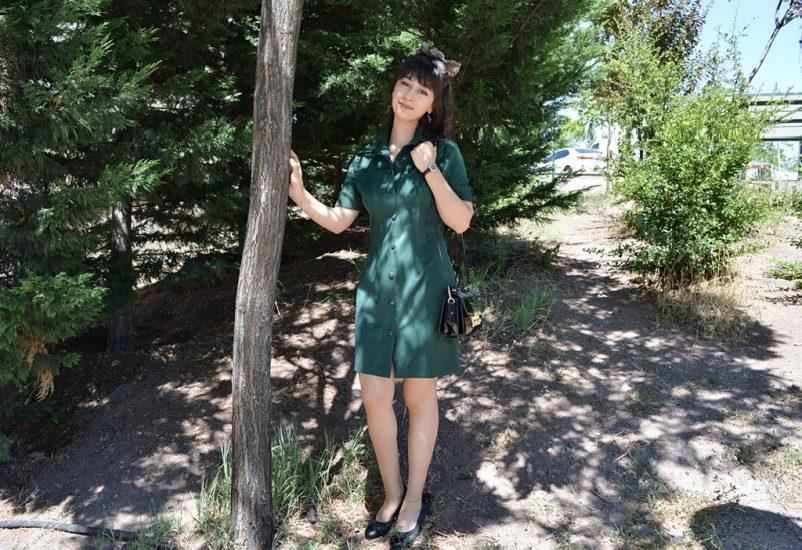 yesil-elbise-kombinleri