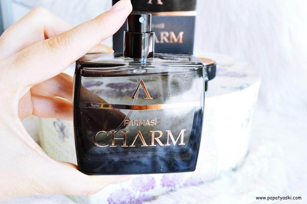 farmasi charm erkek parfümü